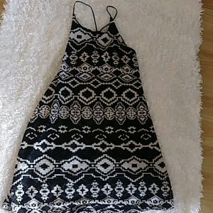 Patterned tank boho  dress from urban outfitters